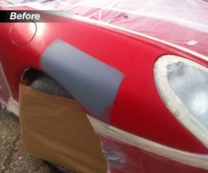 Preparing Porsche for respray
