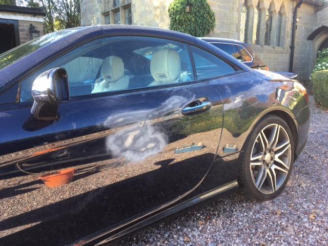 Sanding BMW 4 Series door