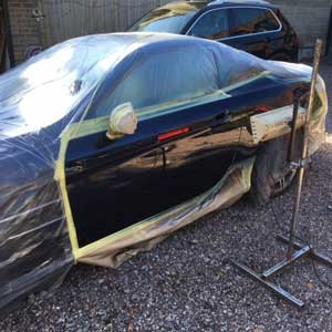 BMW 4 Series Paint Drying